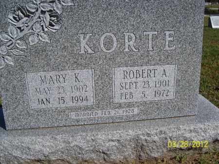 KORTE, MARY K. - Cass County, Illinois | MARY K. KORTE - Illinois Gravestone Photos