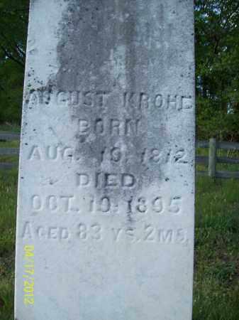 KROHE, AUGUST - Cass County, Illinois | AUGUST KROHE - Illinois Gravestone Photos