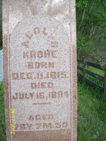 KROHE, ADOLP - Cass County, Illinois | ADOLP KROHE - Illinois Gravestone Photos