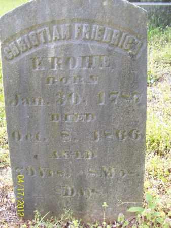 KROHE, CHRISTIAN FRIEDRICH - Cass County, Illinois | CHRISTIAN FRIEDRICH KROHE - Illinois Gravestone Photos