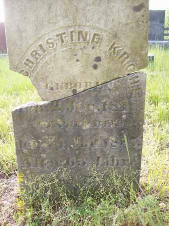 KROHE, CHRISTINE - Cass County, Illinois | CHRISTINE KROHE - Illinois Gravestone Photos