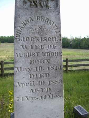 KROHE, JOHANNA CHRISTIANE - Cass County, Illinois | JOHANNA CHRISTIANE KROHE - Illinois Gravestone Photos