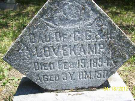 LOVEKAMP, DAUGHTER - Cass County, Illinois | DAUGHTER LOVEKAMP - Illinois Gravestone Photos