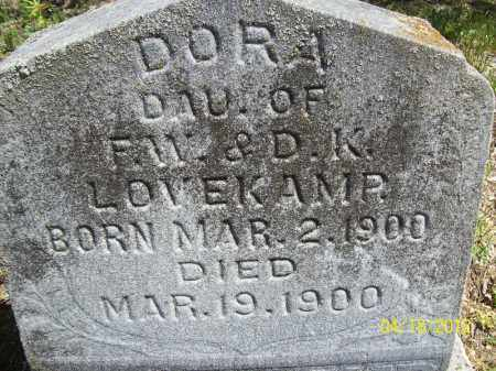 LOVEKAMP, DORA - Cass County, Illinois | DORA LOVEKAMP - Illinois Gravestone Photos