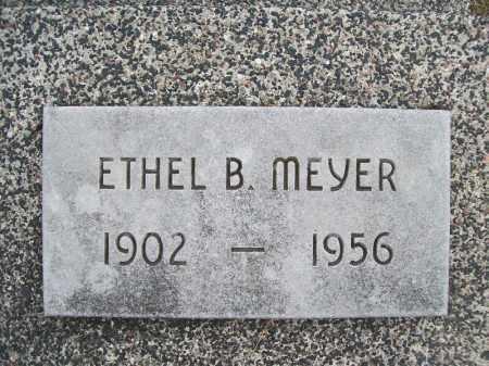 MEYER, ETHEL B. - Cass County, Illinois | ETHEL B. MEYER - Illinois Gravestone Photos