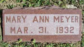 MEYER, MARY ANN - Cass County, Illinois | MARY ANN MEYER - Illinois Gravestone Photos