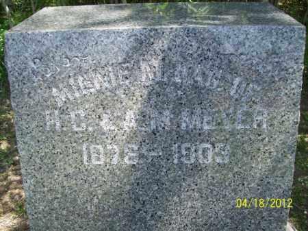 MEYER, MINNIE M. - Cass County, Illinois | MINNIE M. MEYER - Illinois Gravestone Photos