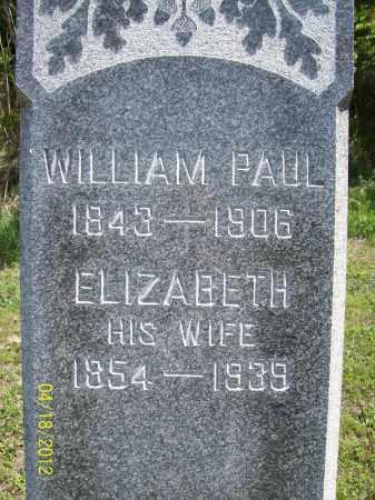 PAUL, ELIZABETH - Cass County, Illinois   ELIZABETH PAUL - Illinois Gravestone Photos