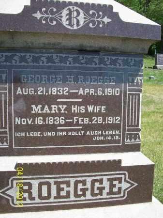 ROEGGE, MARY - Cass County, Illinois | MARY ROEGGE - Illinois Gravestone Photos