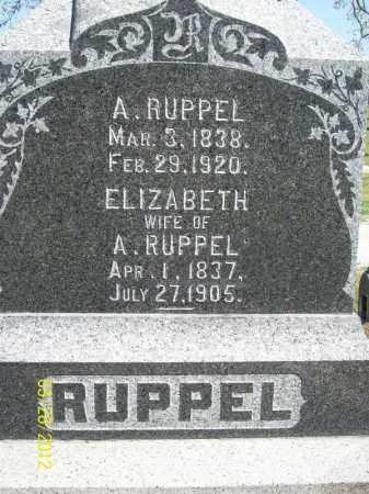 RUPPEL, ELIZABETH - Cass County, Illinois | ELIZABETH RUPPEL - Illinois Gravestone Photos