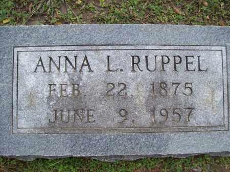 RUPPEL, ANNA L. - Cass County, Illinois | ANNA L. RUPPEL - Illinois Gravestone Photos