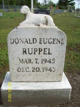 RUPPEL, DONALD EUGENE - Cass County, Illinois   DONALD EUGENE RUPPEL - Illinois Gravestone Photos