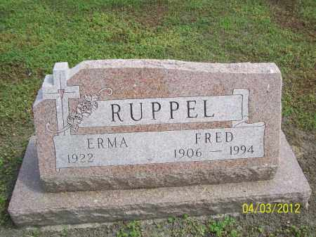 RUPPEL, FRED - Cass County, Illinois | FRED RUPPEL - Illinois Gravestone Photos
