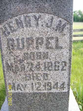 RUPPEL, HENRY J M - Cass County, Illinois | HENRY J M RUPPEL - Illinois Gravestone Photos
