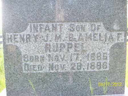 RUPPEL, INFANT SON - Cass County, Illinois   INFANT SON RUPPEL - Illinois Gravestone Photos