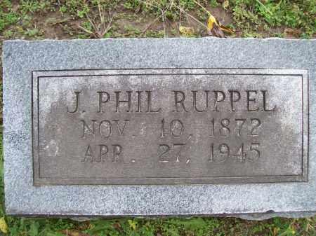 RUPPEL, J. PHIL - Cass County, Illinois | J. PHIL RUPPEL - Illinois Gravestone Photos