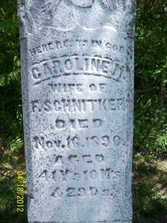 SCHNITKER, CAROLINE M. - Cass County, Illinois   CAROLINE M. SCHNITKER - Illinois Gravestone Photos