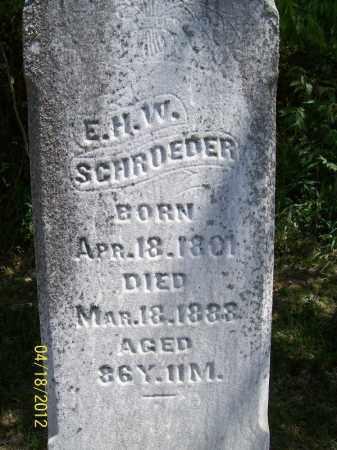 SCHROEDER, E.H.W. - Cass County, Illinois | E.H.W. SCHROEDER - Illinois Gravestone Photos