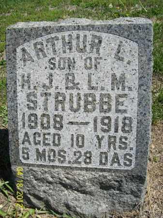 STRUBBE, ARTHUR L. - Cass County, Illinois | ARTHUR L. STRUBBE - Illinois Gravestone Photos