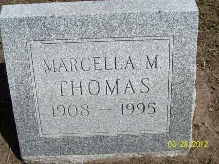 THOMAS, MARCELLA M. - Cass County, Illinois   MARCELLA M. THOMAS - Illinois Gravestone Photos