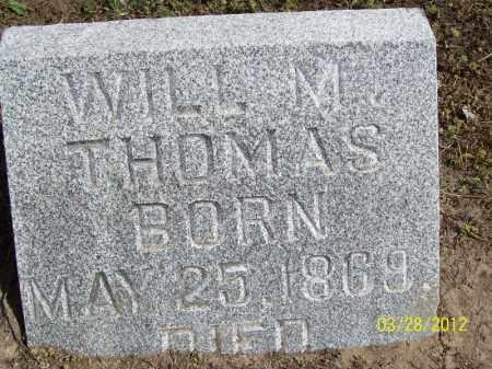 THOMAS, WILL M. - Cass County, Illinois | WILL M. THOMAS - Illinois Gravestone Photos