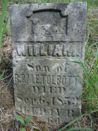 TOLBOTT, WILLIAM - Cass County, Illinois | WILLIAM TOLBOTT - Illinois Gravestone Photos