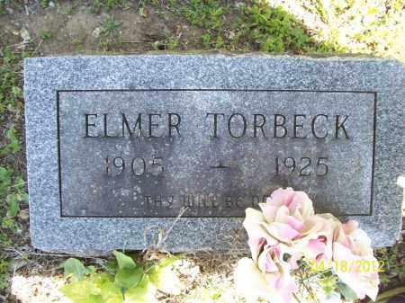 TORBECK, ELMER - Cass County, Illinois   ELMER TORBECK - Illinois Gravestone Photos