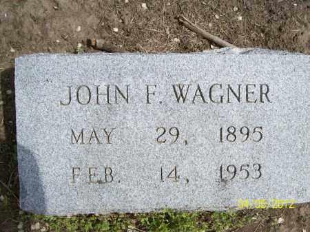 WAGNER, JOHN F. - Cass County, Illinois | JOHN F. WAGNER - Illinois Gravestone Photos