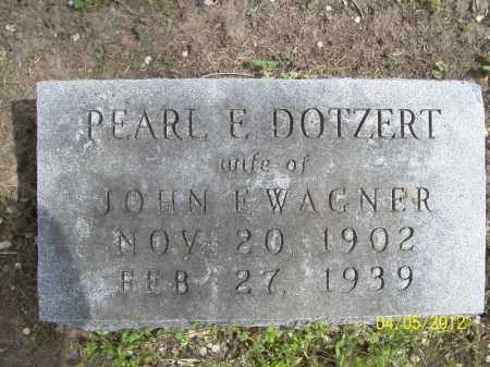 WAGNER, PEARL E. - Cass County, Illinois   PEARL E. WAGNER - Illinois Gravestone Photos