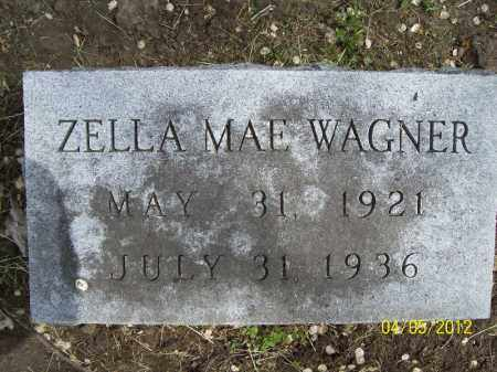 WAGNER, ZELLA MAE - Cass County, Illinois   ZELLA MAE WAGNER - Illinois Gravestone Photos