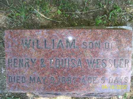 WESSLER, WILLIAM - Cass County, Illinois | WILLIAM WESSLER - Illinois Gravestone Photos