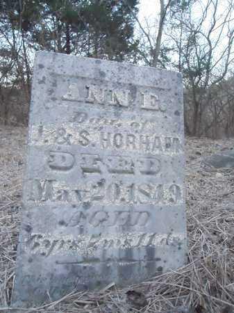 HORHAM, ANN E. - Cass County, Illinois | ANN E. HORHAM - Illinois Gravestone Photos