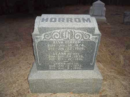 HORROM, ALVA - Cass County, Illinois | ALVA HORROM - Illinois Gravestone Photos