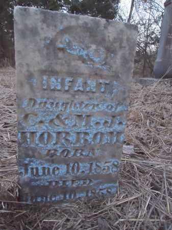 HORROM, INFANT - Cass County, Illinois   INFANT HORROM - Illinois Gravestone Photos