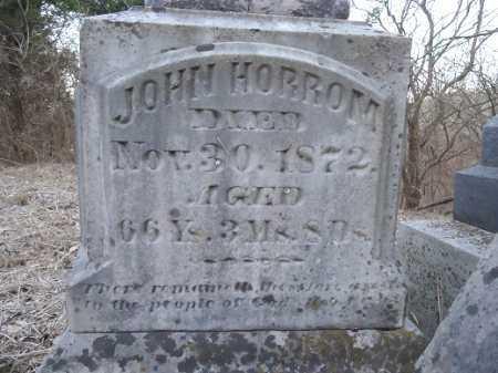 HORROM, JOHN - Cass County, Illinois   JOHN HORROM - Illinois Gravestone Photos