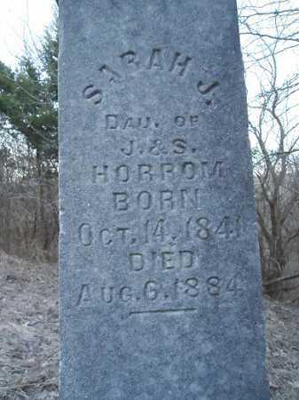 HORROM, SARAH J. - Cass County, Illinois   SARAH J. HORROM - Illinois Gravestone Photos