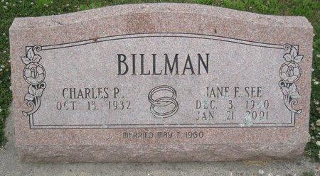 SEE BILLMAN, JANE FRANCES - Champaign County, Illinois | JANE FRANCES SEE BILLMAN - Illinois Gravestone Photos