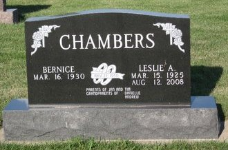 CHAMBERS, LESLIE A. - Champaign County, Illinois | LESLIE A. CHAMBERS - Illinois Gravestone Photos