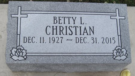 CHRISTIAN, BETTY L. - Champaign County, Illinois | BETTY L. CHRISTIAN - Illinois Gravestone Photos