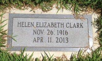 CLARK, HELEN ELIZABETH - Champaign County, Illinois   HELEN ELIZABETH CLARK - Illinois Gravestone Photos