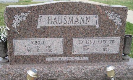 HAUSMANN, GEORGE FRANK - Champaign County, Illinois | GEORGE FRANK HAUSMANN - Illinois Gravestone Photos