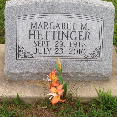 HETTINGER, MARGARET M. - Champaign County, Illinois | MARGARET M. HETTINGER - Illinois Gravestone Photos