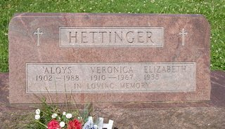 HETTINGER, VERONICA MARY - Champaign County, Illinois | VERONICA MARY HETTINGER - Illinois Gravestone Photos