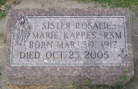 KAPPES, SR. ROSALIE MARIE - Champaign County, Illinois | SR. ROSALIE MARIE KAPPES - Illinois Gravestone Photos