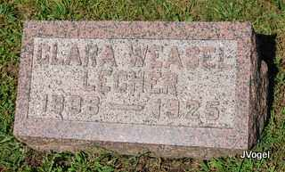 WEASEL LECHER, CLARA - Champaign County, Illinois | CLARA WEASEL LECHER - Illinois Gravestone Photos