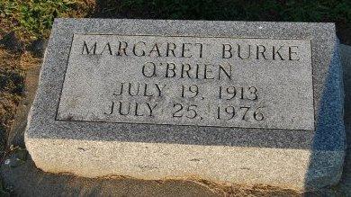 BURKE O'BRIEN, MARGARET - Champaign County, Illinois   MARGARET BURKE O'BRIEN - Illinois Gravestone Photos