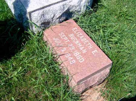 RUCKMAN, ELIZABETH - Champaign County, Illinois   ELIZABETH RUCKMAN - Illinois Gravestone Photos