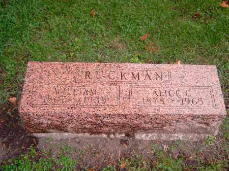 RUCKMAN, ALICE - Champaign County, Illinois | ALICE RUCKMAN - Illinois Gravestone Photos