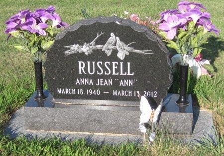 "RUSSELL, ANNA JEAN ""ANN"" - Champaign County, Illinois | ANNA JEAN ""ANN"" RUSSELL - Illinois Gravestone Photos"