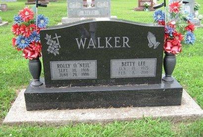 WALKER, BETTY  LEE - Champaign County, Illinois | BETTY  LEE WALKER - Illinois Gravestone Photos